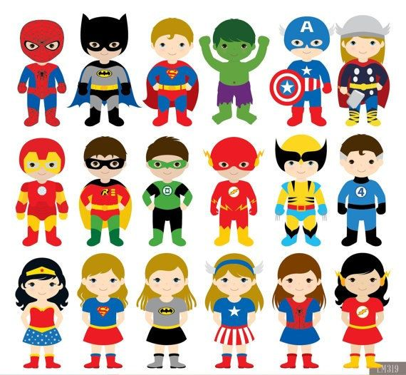 Image result for child superhero cartoon