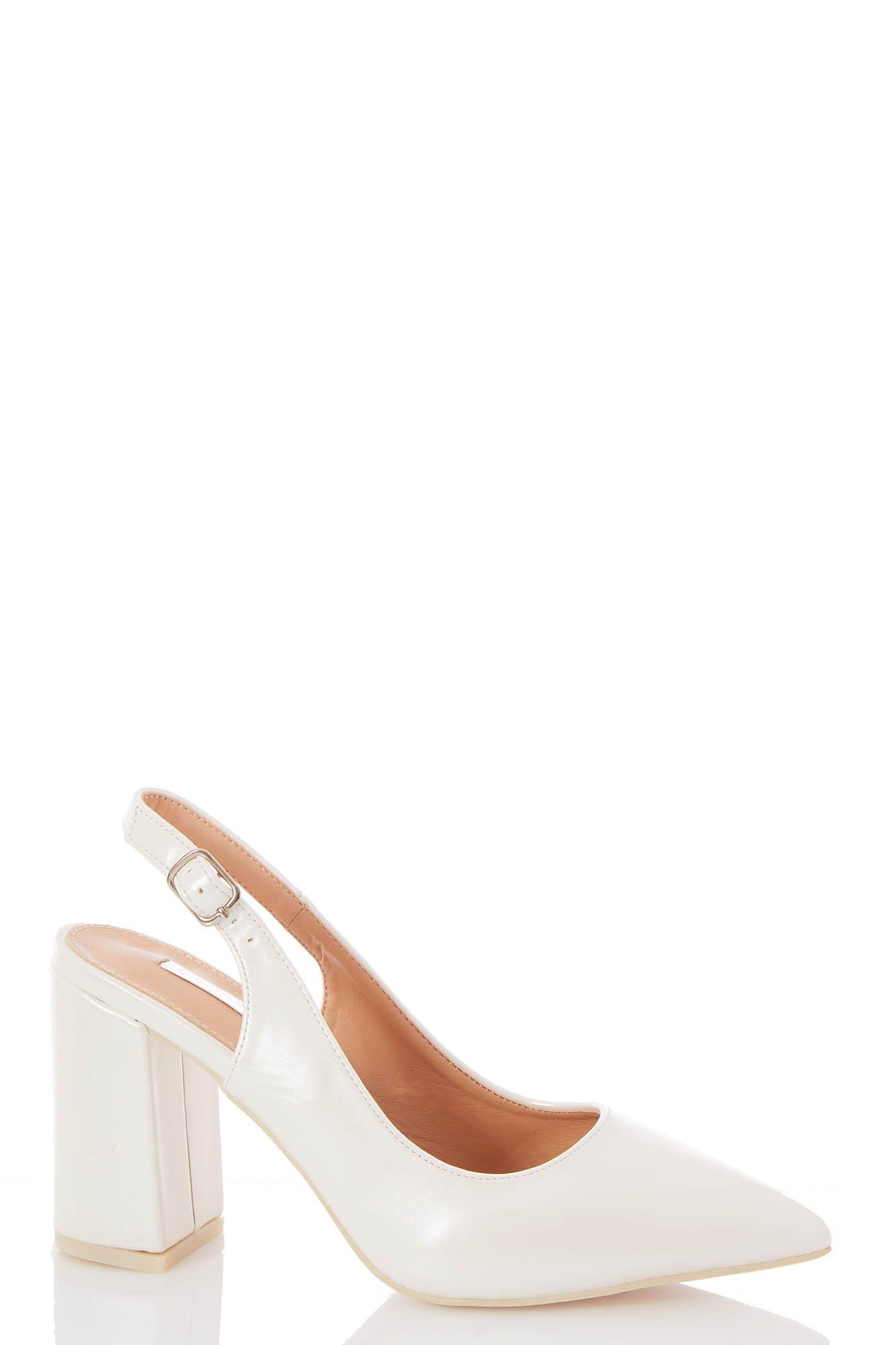 Slingback Block Heel Shoes | Heels