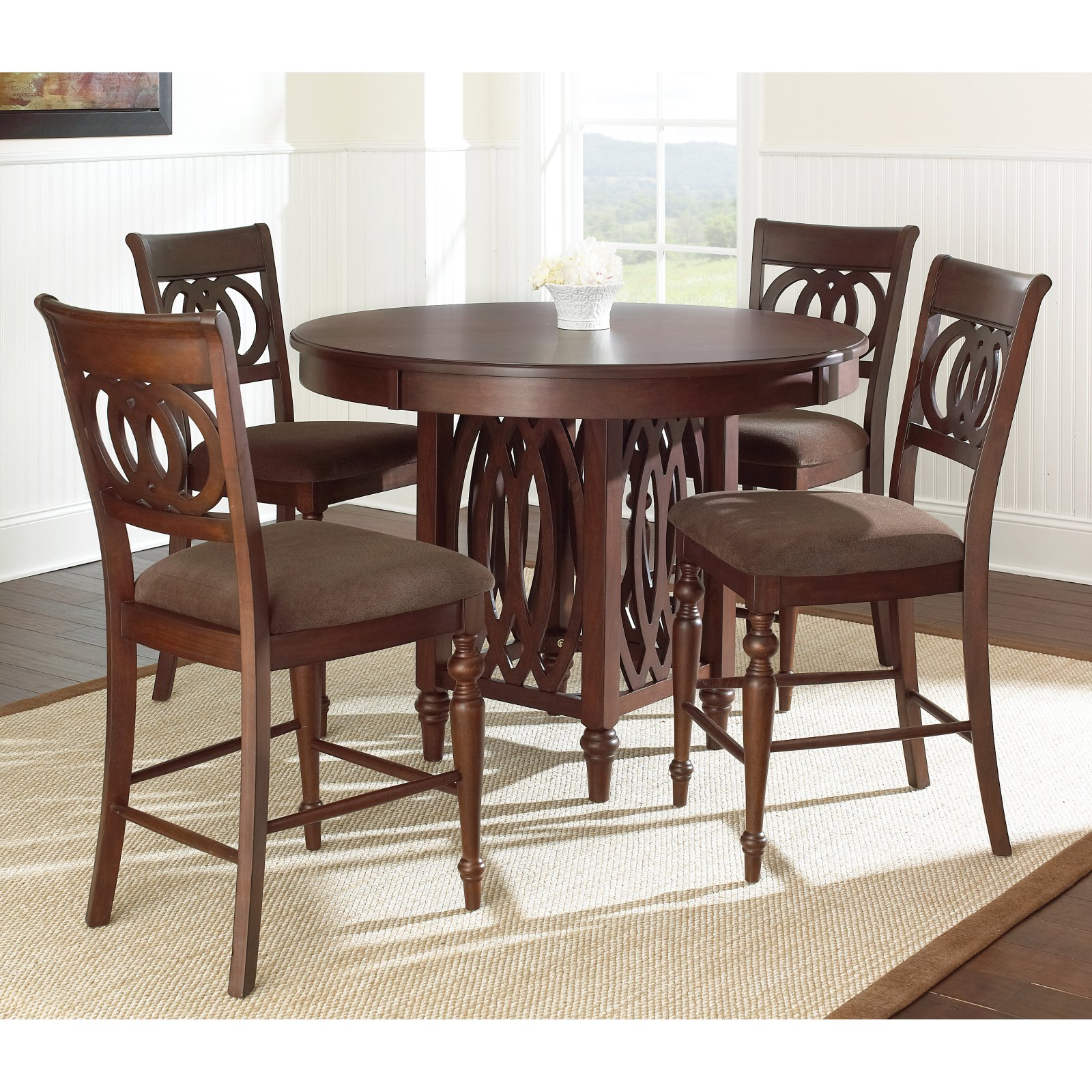 Steve Silver Dolly 5 Piece Counter Height Dining Table Set