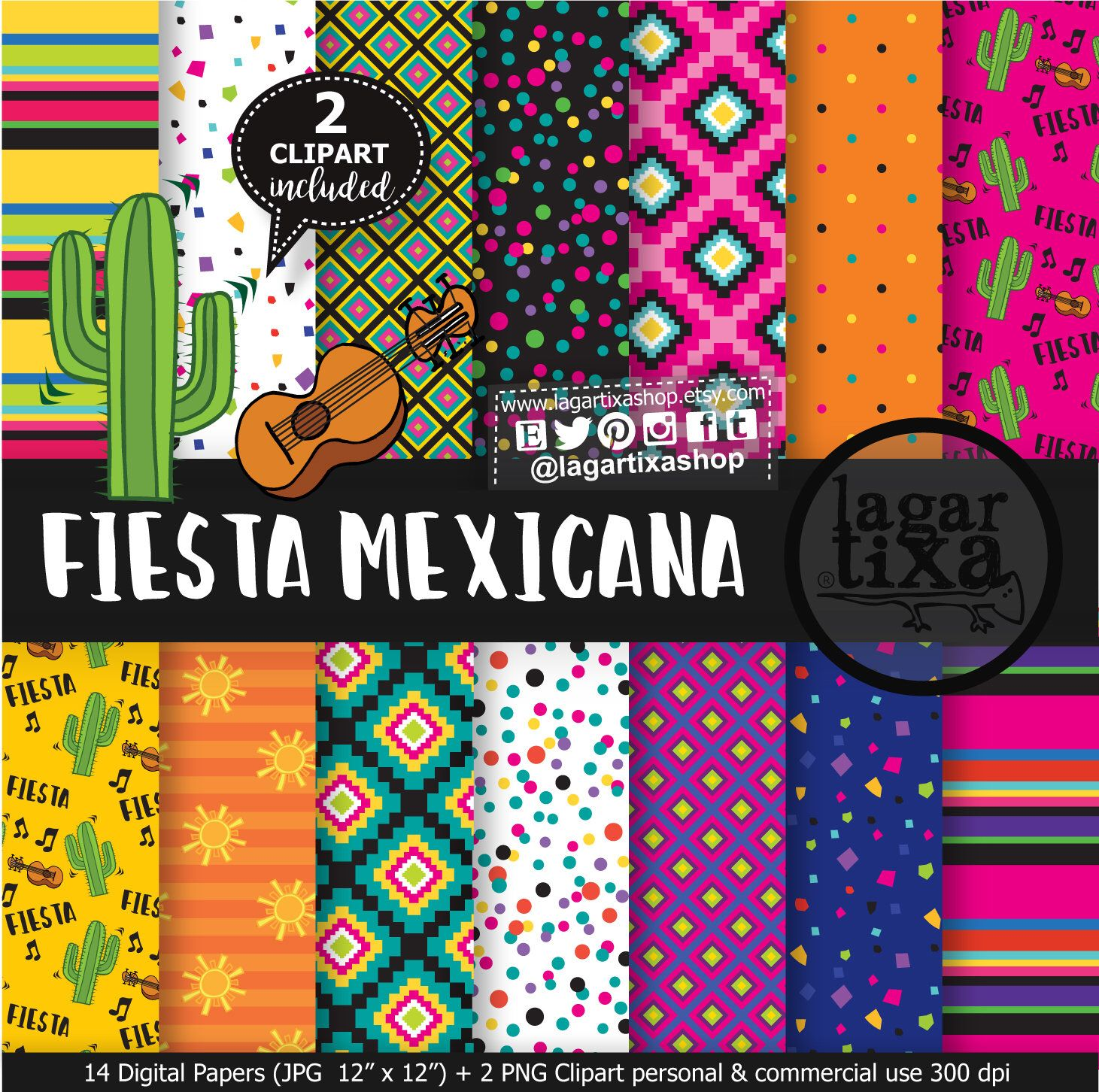Mexican Digital Paper Patterns Free Clipart Png Mexican Party Folk Clip Art Fiesta Cinco De Mayo Colorful Traditions Zarape Cactus Paper Pattern Free Digital Paper Free Clip Art