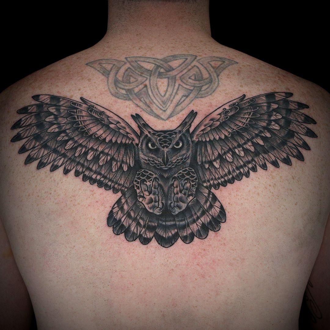 Owl Tattoo By Creepy Jason Ink Master Tattoos Ink Tattoo Cover Up Tattoos