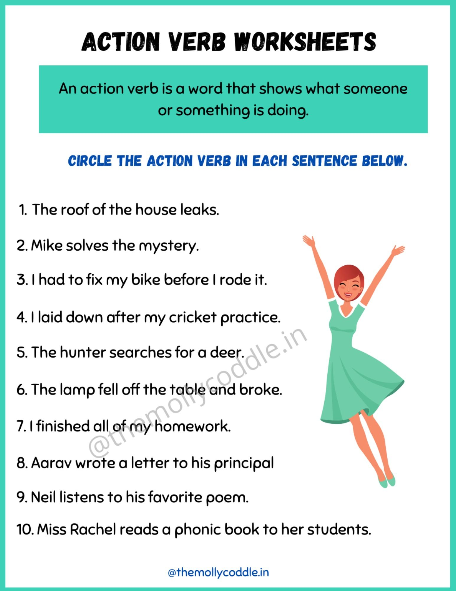 Free Printable Worksheets On Verbs Verb Words Action Verbs Free Printable Worksheets [ 2000 x 1545 Pixel ]