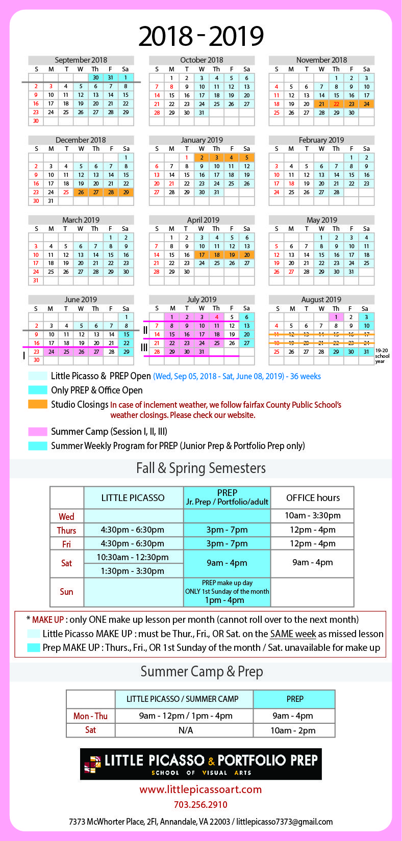 Fairfax County School Calendar 2019 Pin by Calendar on Academic Calendar in 2019 | School calendar