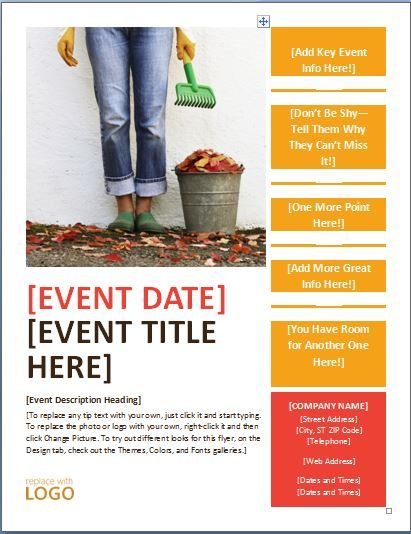 Special events can be made even more extraordinary if they come - free microsoft word flyer templates