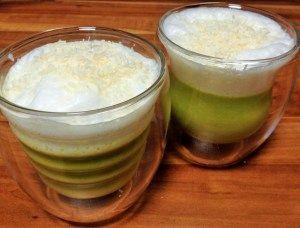grüner Spargel Cappuccino