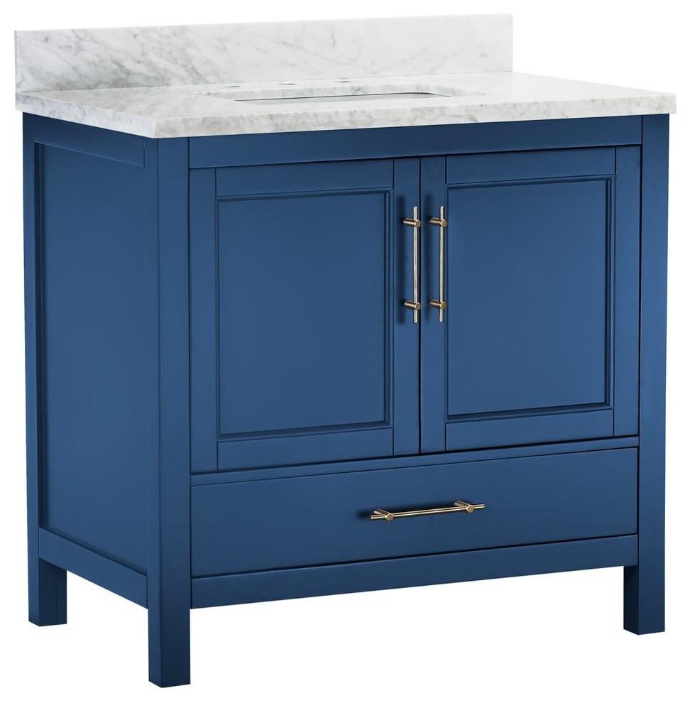 Kendall Blue Bathroom Vanity Contemporary Bathroom Vanities And Sink Consoles By Houzz With Images Blue Bathroom Vanity Blue Bathroom Contemporary Bathroom Vanity