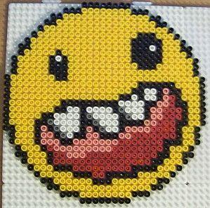 Smiley monster hama beads by les loisirs de pat perles - Smiley perle a repasser ...