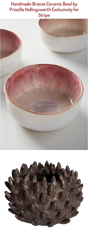 Large Bronze Glazed Horned Ceramic Bowl Handmade Exclusively For Stripe Vintage Modern By Artisan Priscilla Hollings In 2020 Ceramics Bowls Designs Bowl Ceramic Bowls