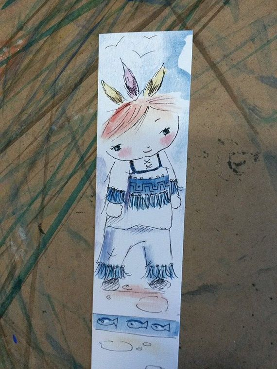 Book mark 'One Little Indian'  laminated for by Owls4You on Etsy, $2.74