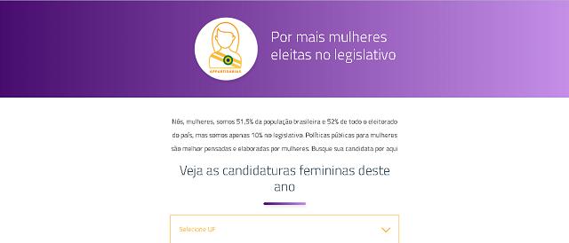 Plataforma projeta candidatas e detecta boicote de partidos   Notícias 8396ef375e