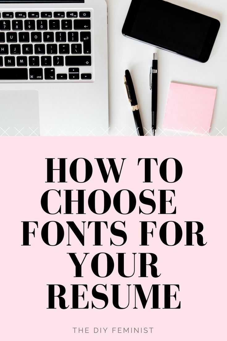 how to choose the best fonts for your resume