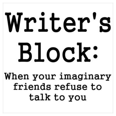 Image result for cartoon images of writer's block when your imaginary friends stop speaking to you