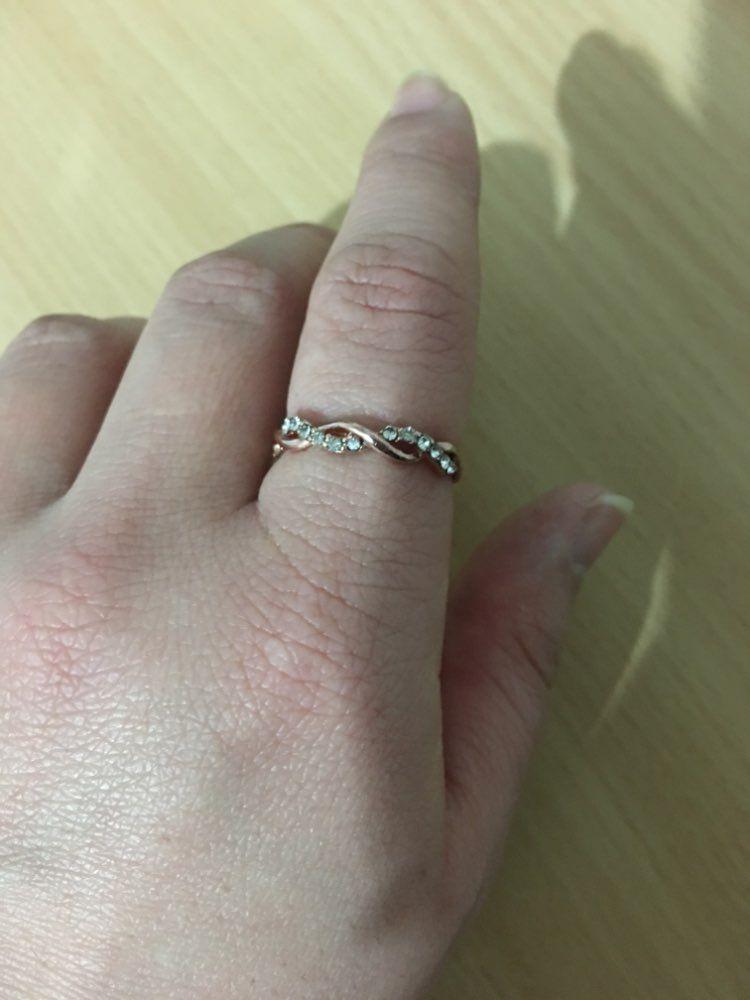 85dd0f5074e Lulu Cute Simple Dainty Crystal Twist Rose Gold Ring in 2019 ...