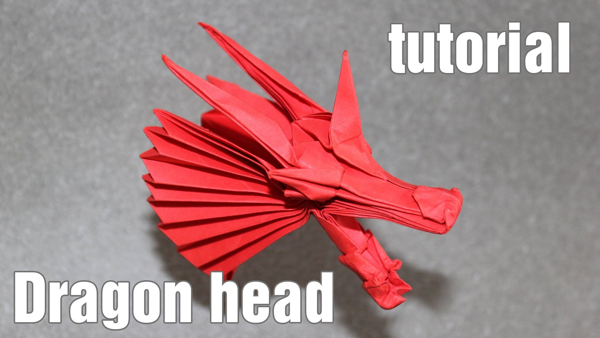 Origami Dragon Head Tutorial Henry Pham