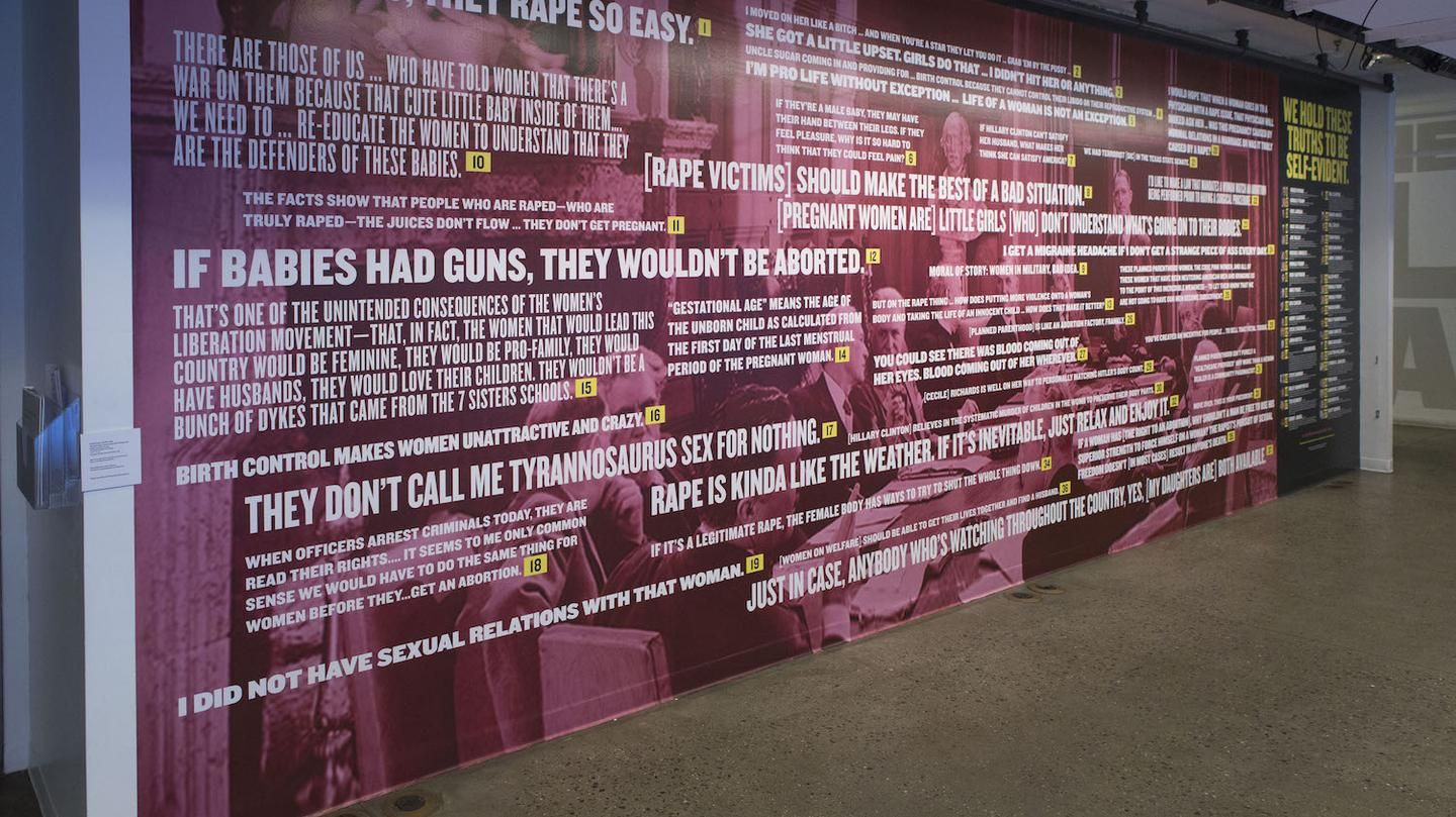 37 Politicians Get A Mural Dedicated To Their Most Shameful Comments About Women Being Ignored Quotes Mural Women