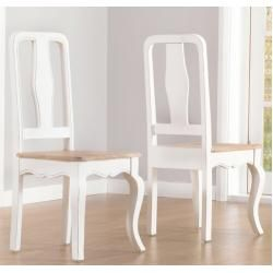 Photo of Eggert dining chair set made of solid wood