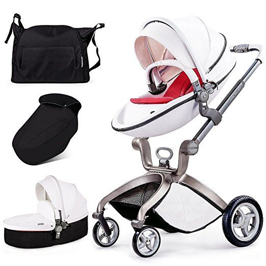 Hot Mom 3 In 1 Travel System And Bassinet Baby Stroller White