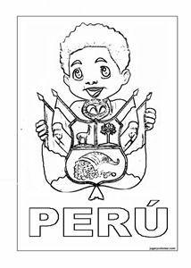 Peru Ninos Para Colorear Escudo Y Bandera Jugar Y Colorear Los