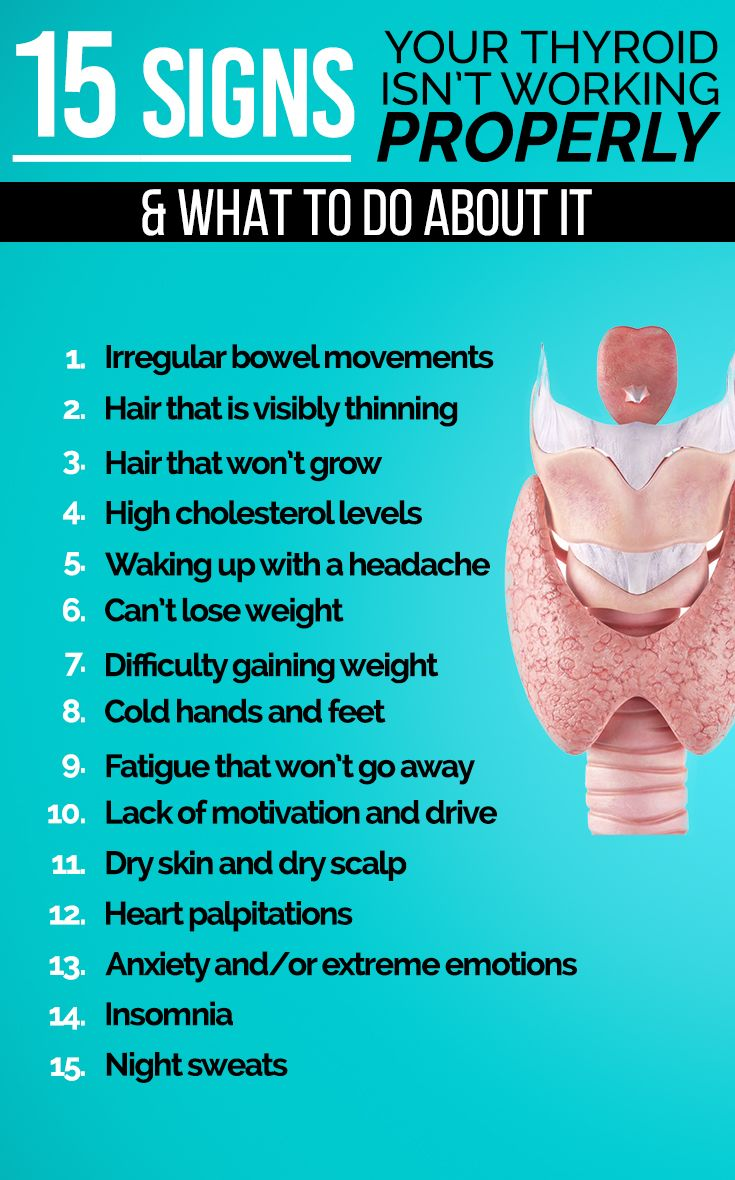 15 Signs Your Thyroid Isn't Working Properly & Wha