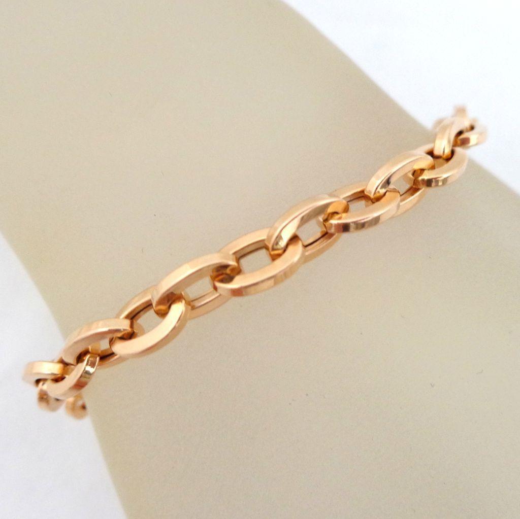 Estate 14K Italian Milor Rose Gold Chunky Link Bracelet from riverroadcollectibles on Ruby Lane