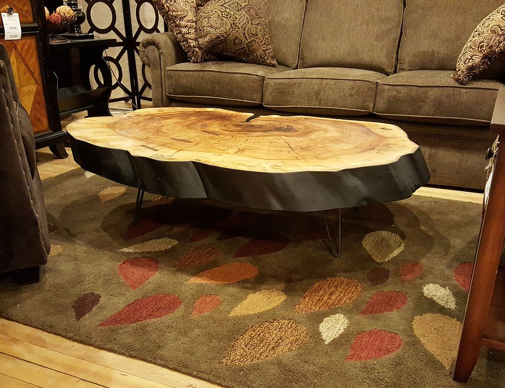 Heirloom uses local trees that have been taken down for urban development,  disease or other unfortunate reasons to make beautiful live edge furniture.