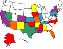 States I've visited for at least a day.
