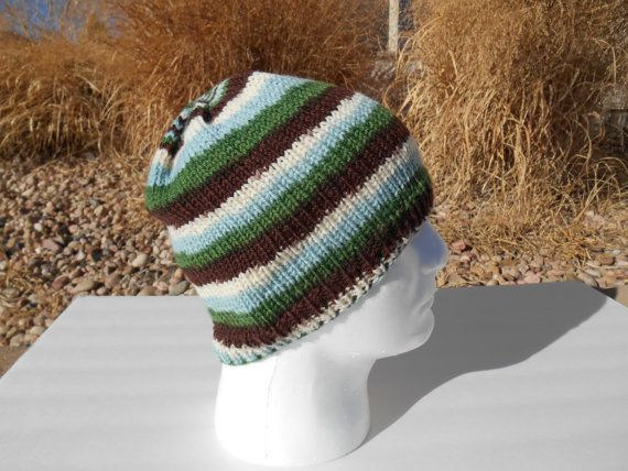 Hand knit 100% wool hat by stickshooksandyarn on Etsy, $20.00