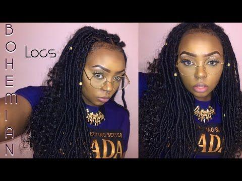 Diy Individual Crochet Bohemian Dess Faux Locs Half Wig Diamond