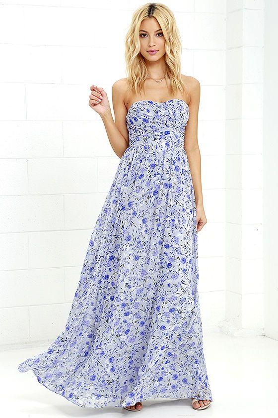 32+ Strapless floral maxi dress information
