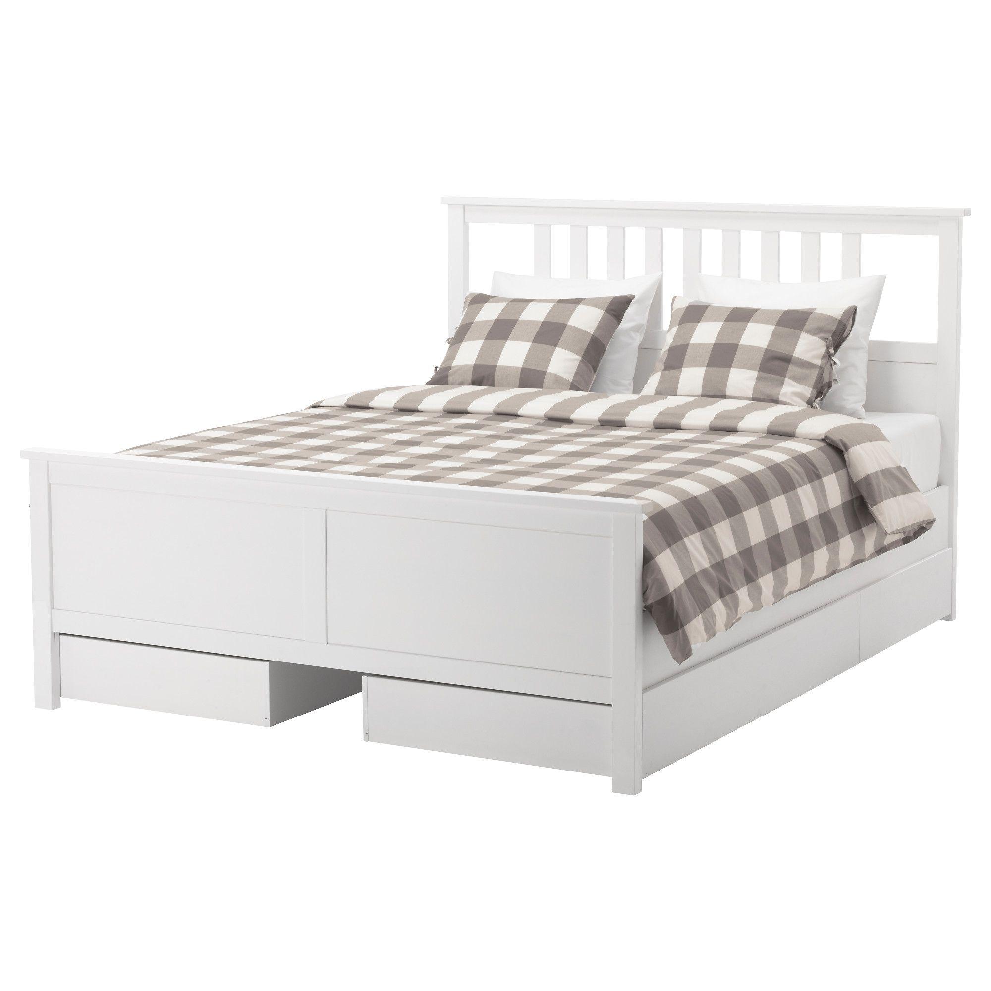 Hemnes Bed Frame With 4 Storage Bo Full Ikea