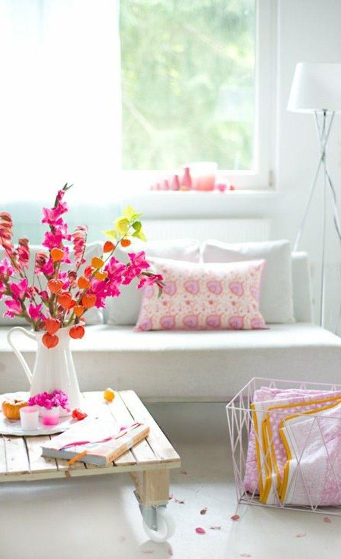cool Déco Salon - joli salon de couleur pale, idée déco salon ...