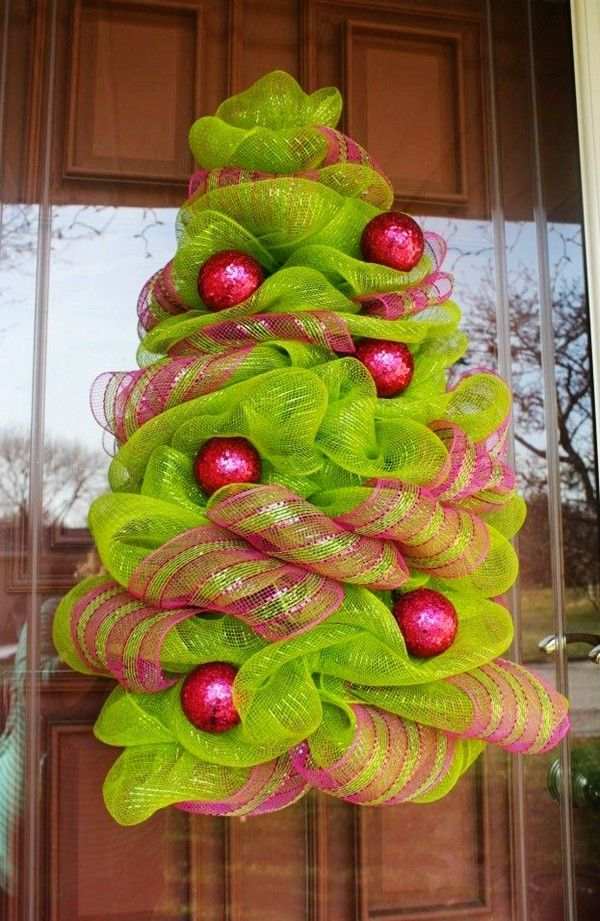 Christmas Tree Decorating Ideas With Deco Mesh Part - 16: Christmas Tree Deco Mesh Wreath