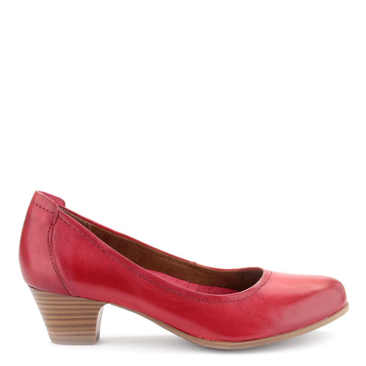 16a29b3837 Piros Tamaris cipő ANTiShokk sarokkal | ChiX.hu cipő webáruház Klasszikus  fazonú piros Tamaris cipő 4 cm magas ANTiShokk sarokkal, memóriahabos Touch  It ...