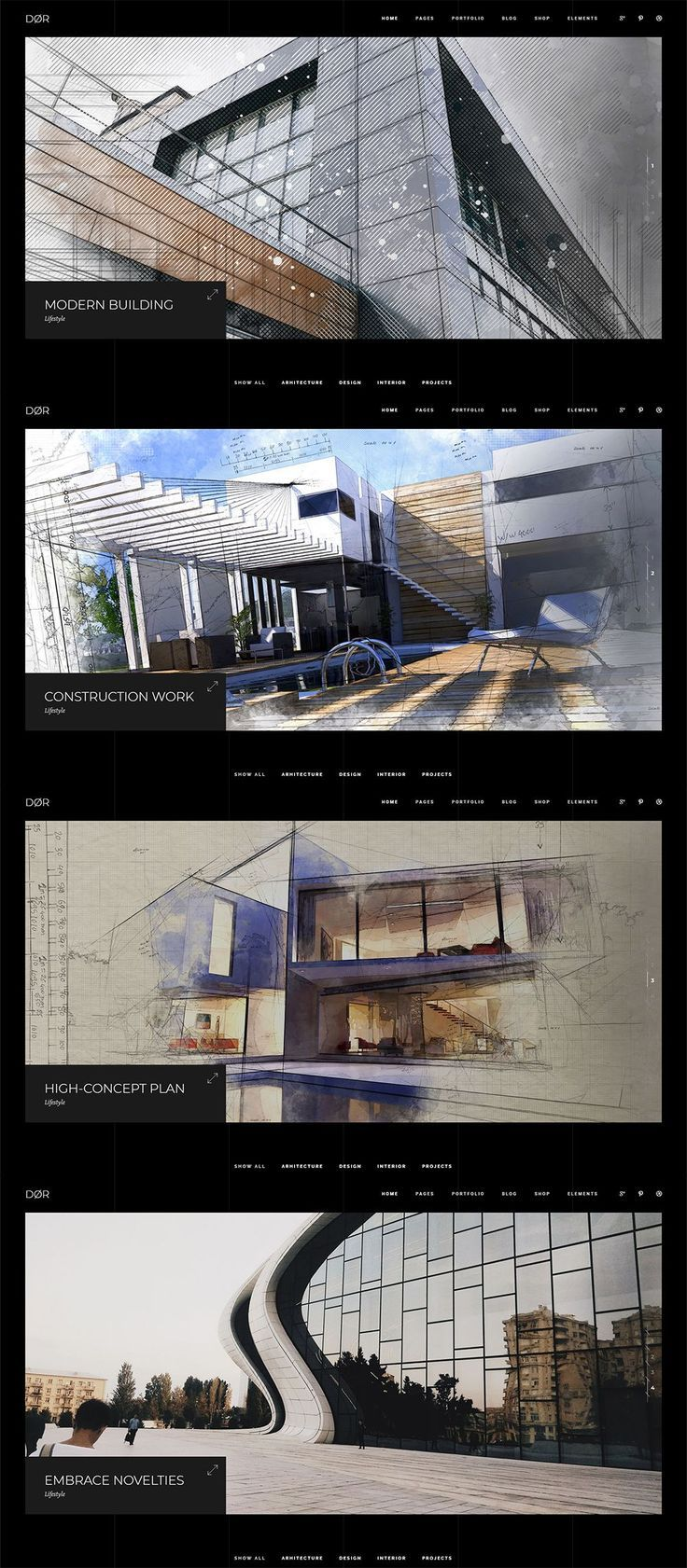 Dør Modern Architecture and Interior Design Theme