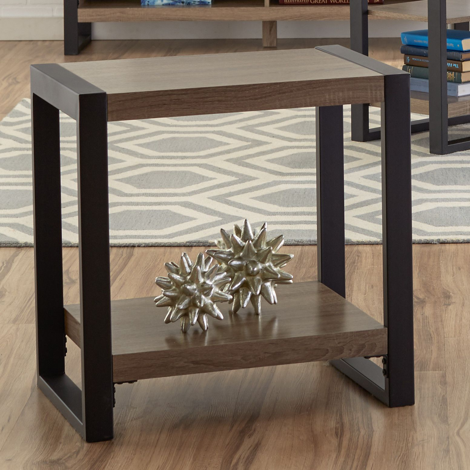Theodulus Sled End Table With Storage End Tables With Storage End Tables Table
