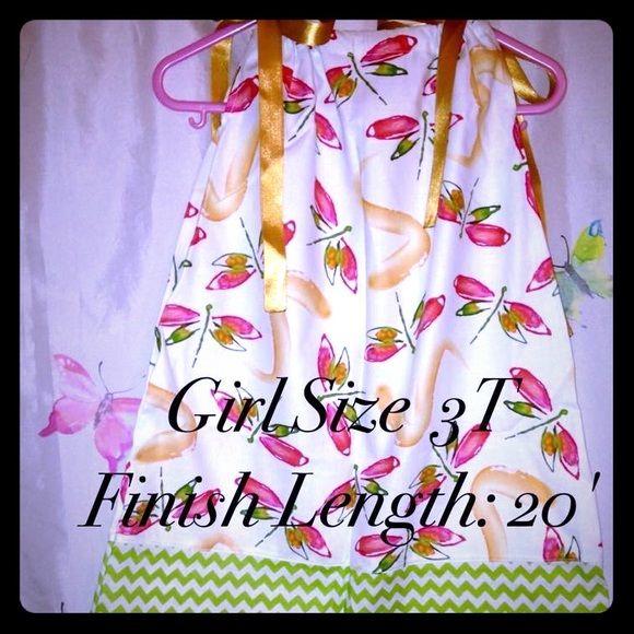 "Selling this ""Dragonflies pillowcase dress"" in my Poshmark closet! My username is: kadence_kloset. #shopmycloset #poshmark #fashion #shopping #style #forsale #Kids boutique #Dresses & Skirts"