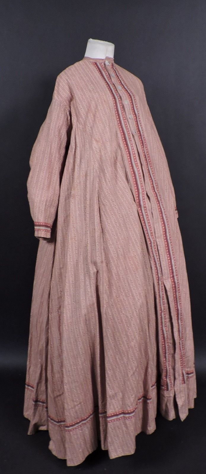 Civil war calico cotton maternity gown w full sweep ebay civil war calico cotton maternity gown w full sweep ebay ombrellifo Images