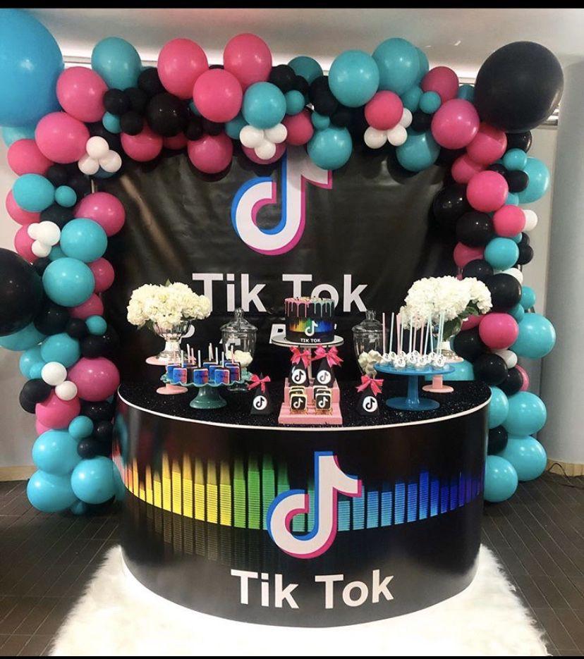 Pin By Alejandra Plata On Cake Tick Tok Birthday Party Cake Party Cakes Cute Birthday Cakes