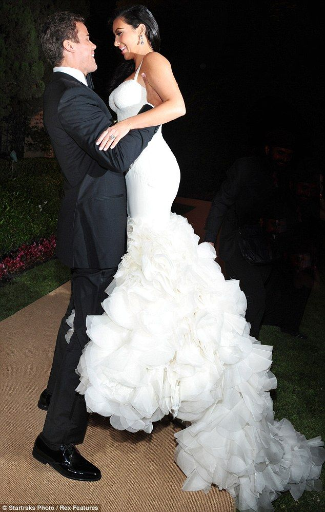 Costume Change Newlywed Kim Kardashian Dons Dress Number Two As She Heads Into Her Reception With Kris Humphries
