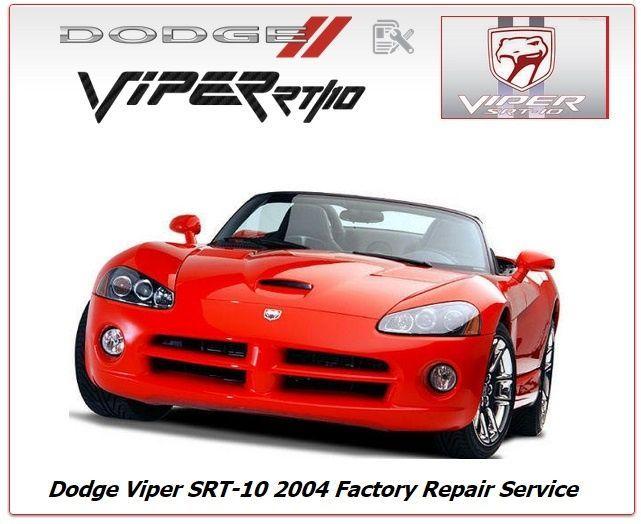 dodge viper srt 10 2004 factory service manual cars dodge viper rh pinterest com dodge viper workshop manual 2006 dodge viper owners manual