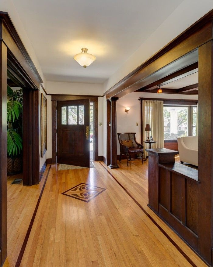 A 1908 Craftsman with Gorgeous Woodwork in Pasadena  Entry Halls  Craftsman Craftsman style