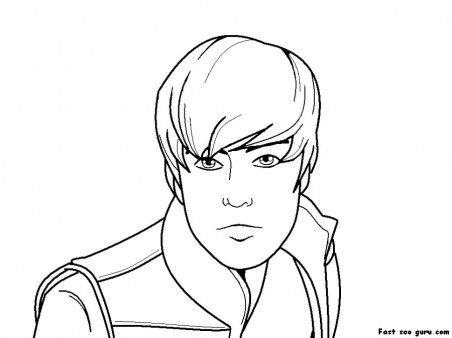 Free Printable justin bieber coloring pages for girls | Fun c abby ...