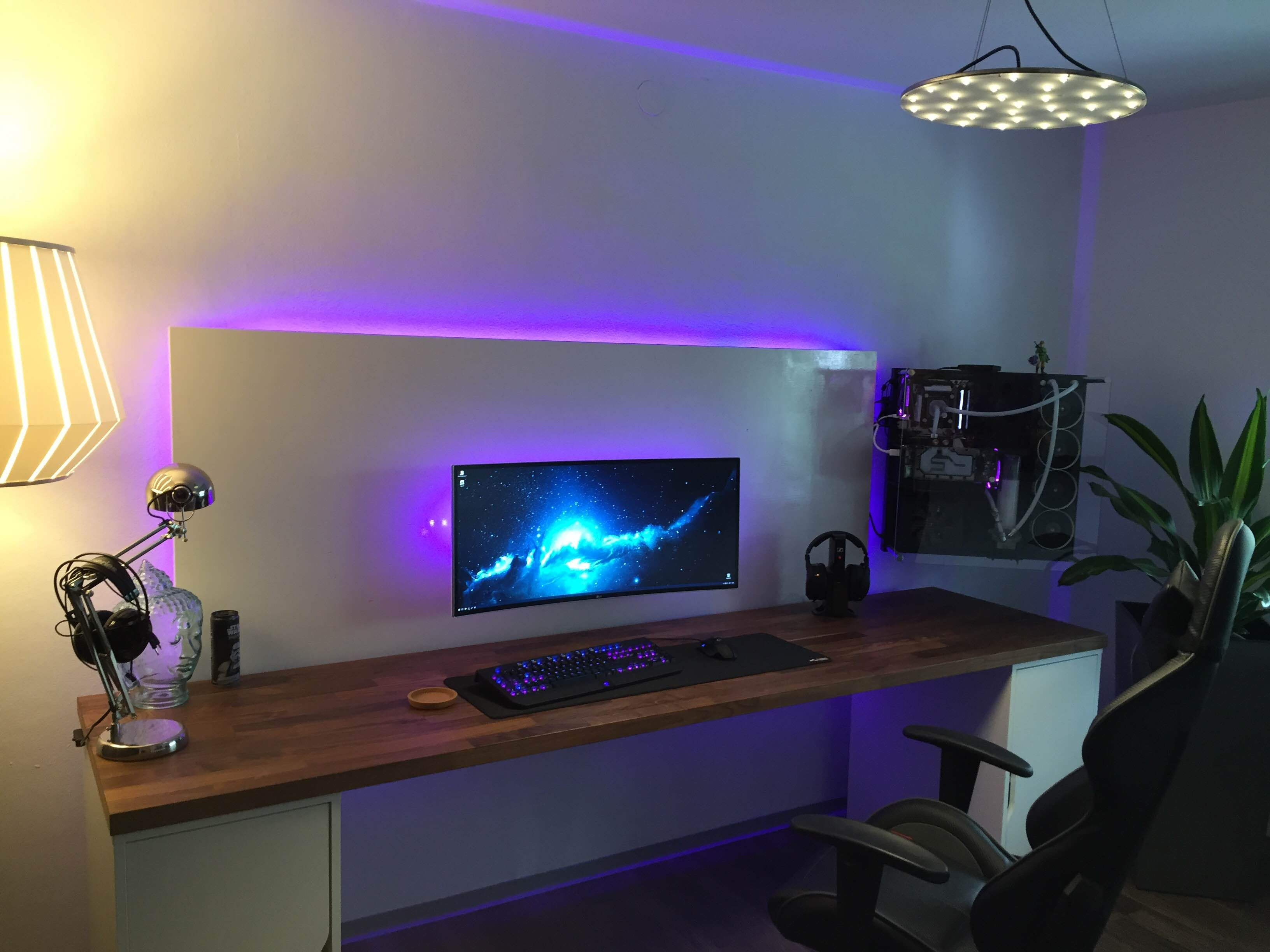 Gaming Tisch Ps4 My Game Workstation 2016 Desk Ideas Computertisch