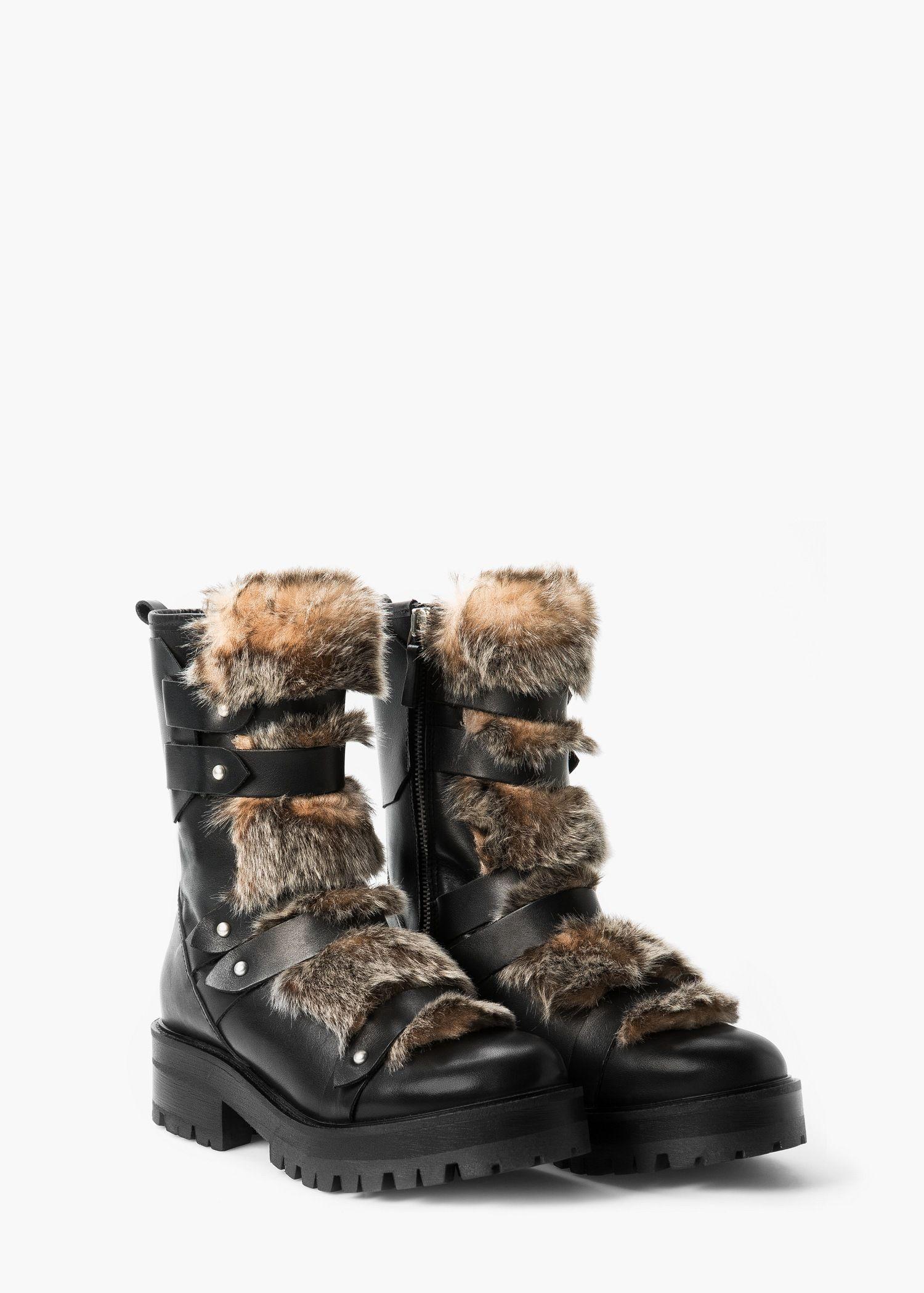 Bottes cuir fourrure - Femme   Love shoes   Pinterest 9dc24fb25d79