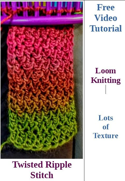 How to do Twisted Ripple Stitch for the loom
