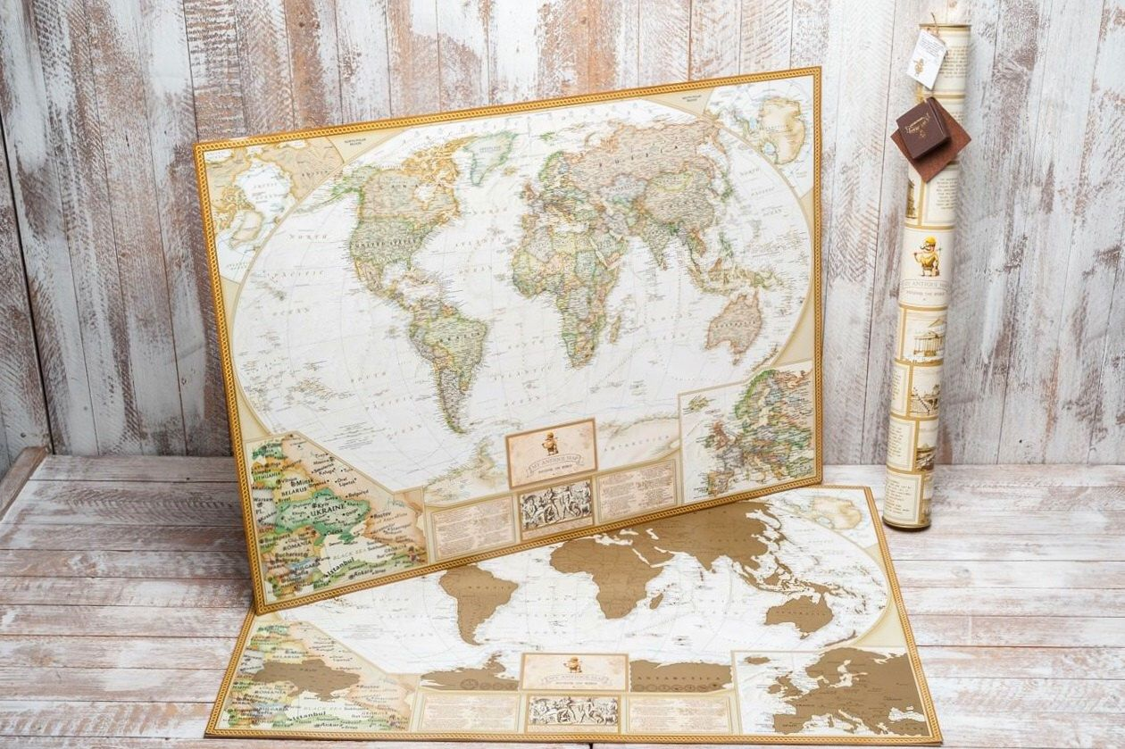 Scratch Off Map Personalized World Travel Map World Map Poster - Small world map poster