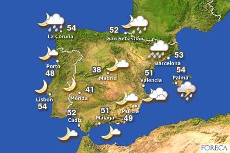 Weather Map Of Spain.Weather Forecast For Malaga Spain Logan Has The Same Weather Today