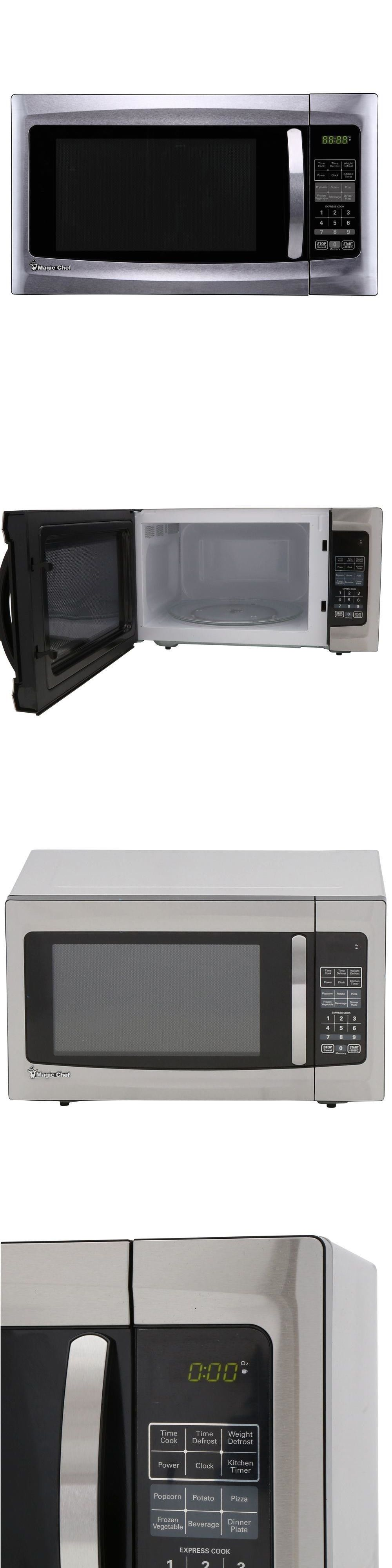 Microwave Ovens 150140 Magic Chef Countertop 1 6 Cu Ft 1100 Watts Stainless Steel Oven It Now Only 128 5 On Ebay