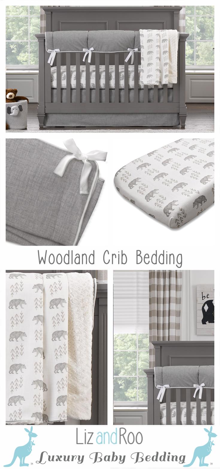 Cubby gray bear crib bedding in home decor pinterest