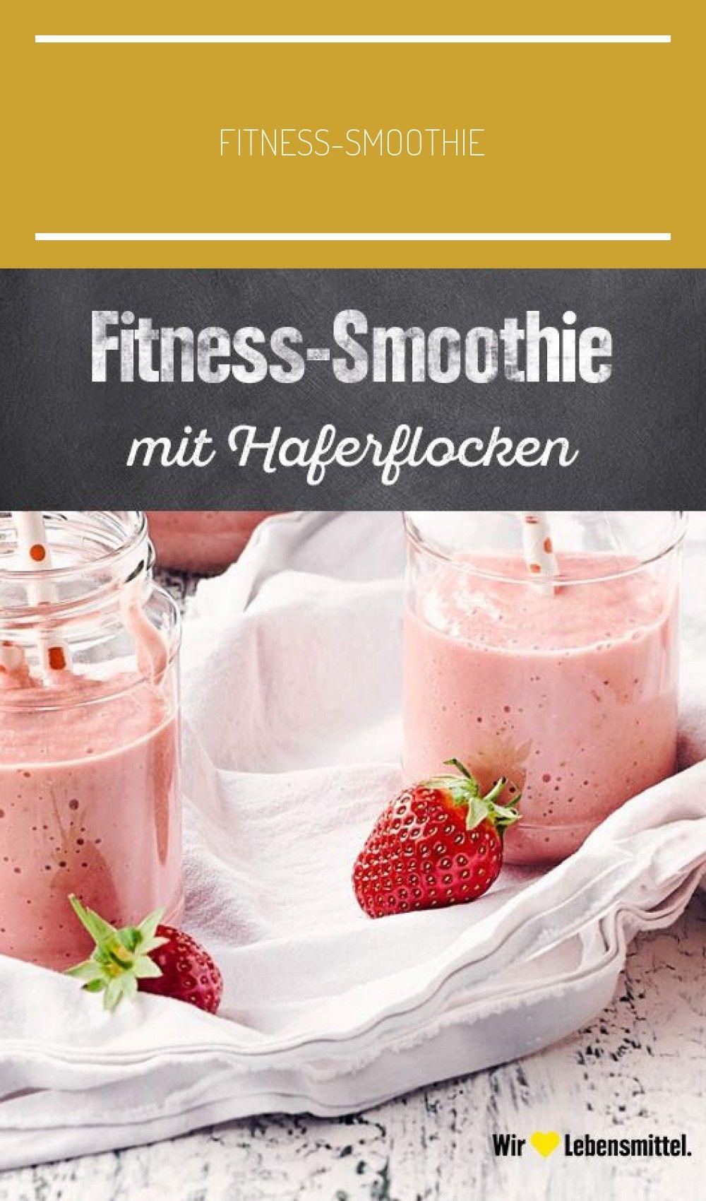 Schnell gemacht, herrlich fruchtig und gesund! #fitness #erdbeeren #smoothie #haferflocken #edeka #j...